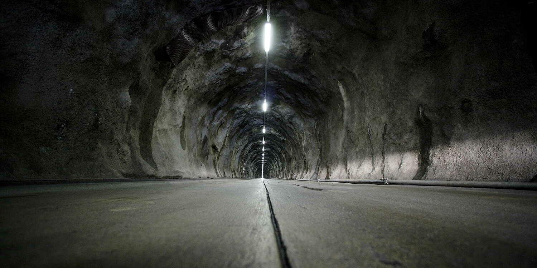 Zufahrt zur Kaverne des Kraftwerks Säckingen