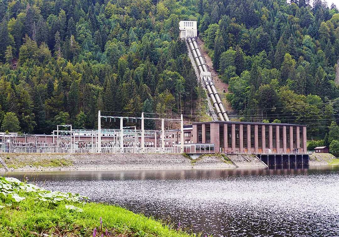 Das Kraftwerk Häusern ist das erste Kraftwerk der Schluchseewerk AG (Bauzeit 1929 bis 1931)