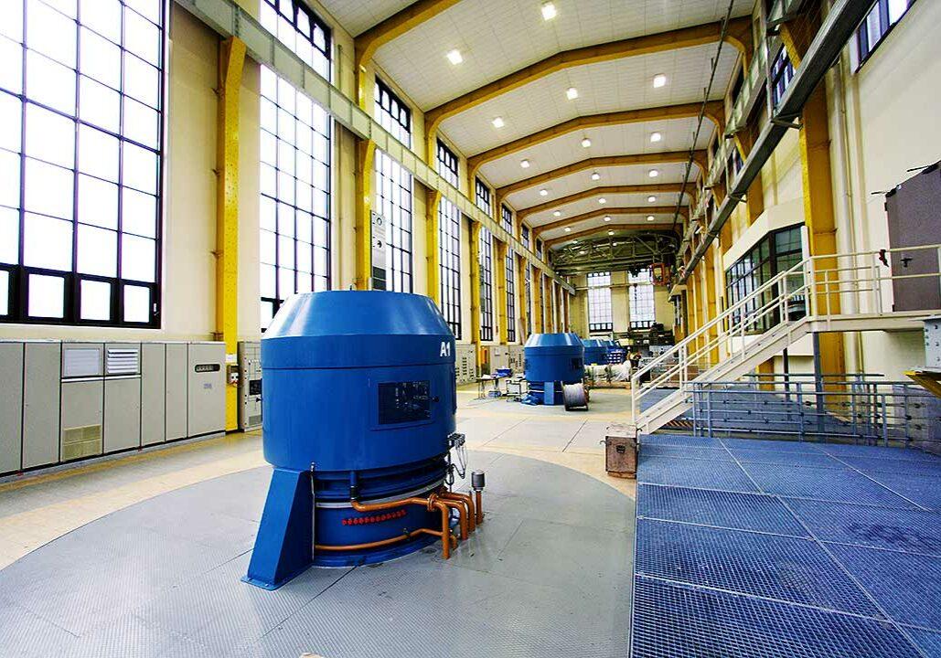 Die Maschinenhalle des Kraftwerks Häusern