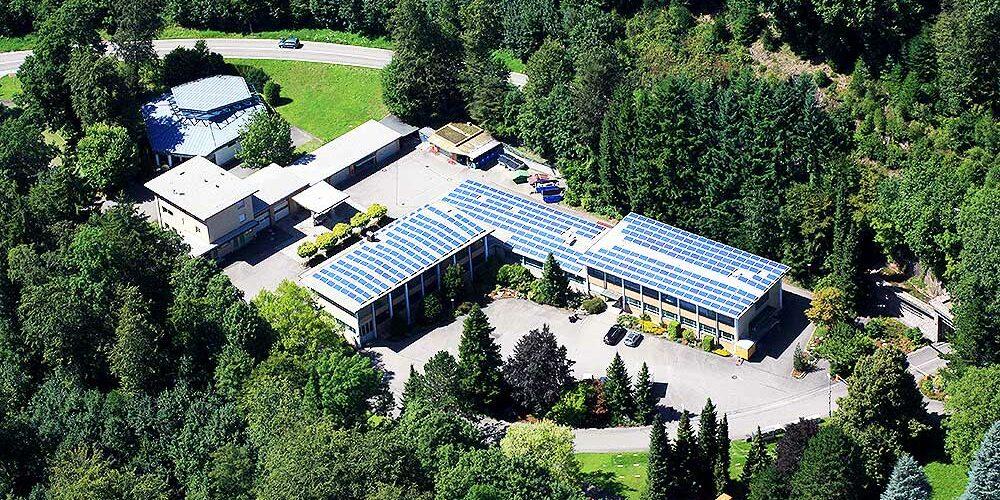 Betriebsgelände des Kavernenkraftwerks Säckingen