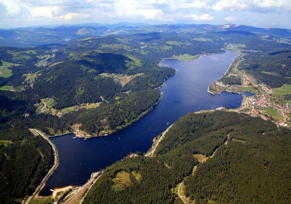 Luftaufnahme des Schluchsees